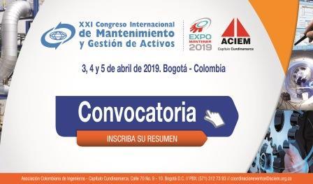 XXI CONGRESO INTERNACIONAL DE MANTENIMIENTO Y GESTIÓN DE ACTIVOS - COLOMBIA - ABRIL 2019